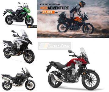 Honda CB500X Vs KTM ADV 390 vs Benelli TRK 502 vs Kawasaki Versys 650-comparison