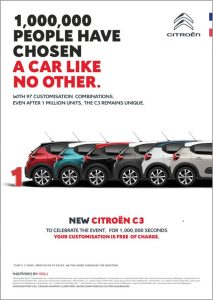 3rd generation Citroën C3 Sales