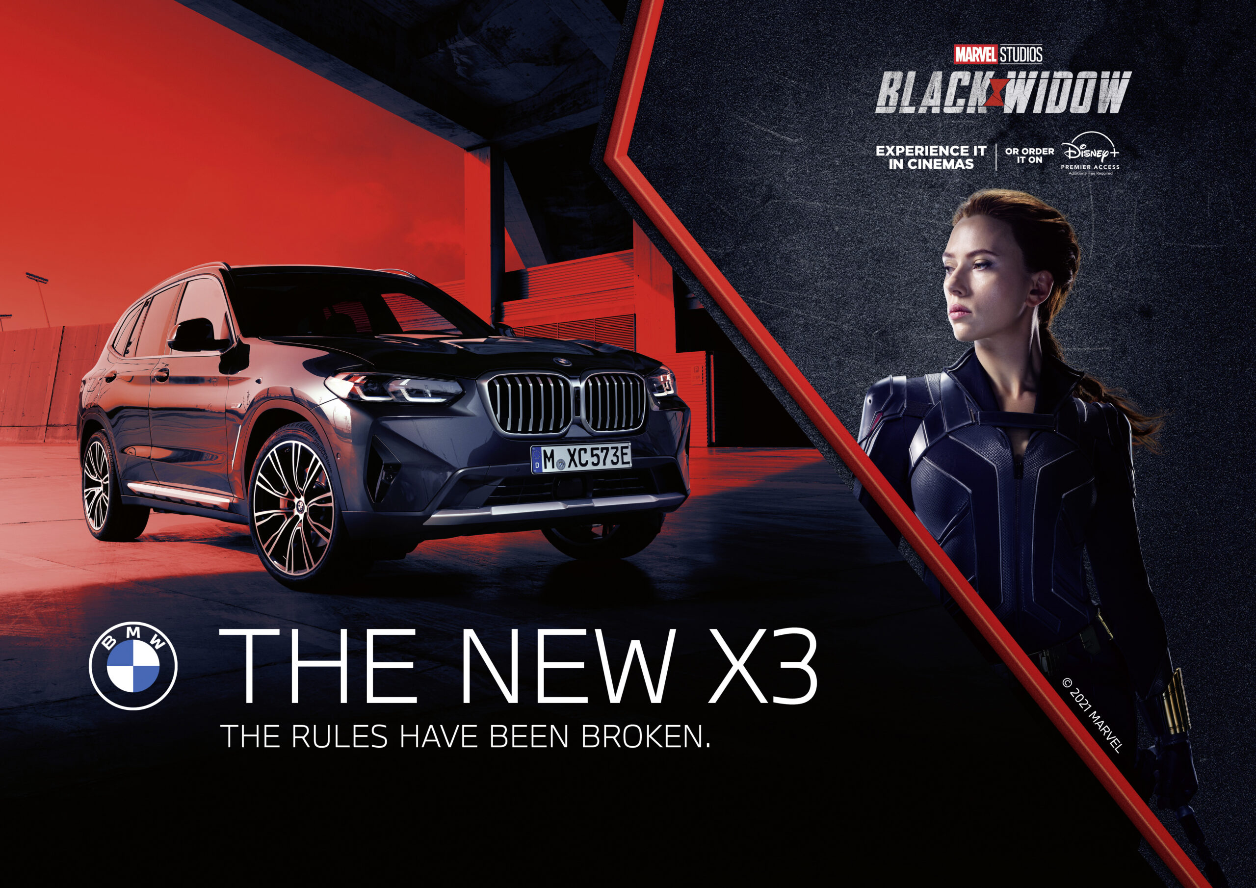 BMW And Marvel Studios Collaborate For Black Widow Movie