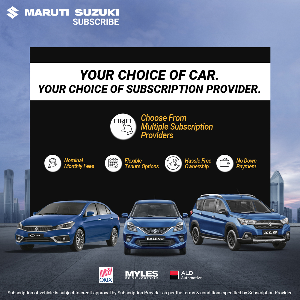 Maruti Subscription Services Added To Jaipur, Indore, Mangalore and Mysore (2)