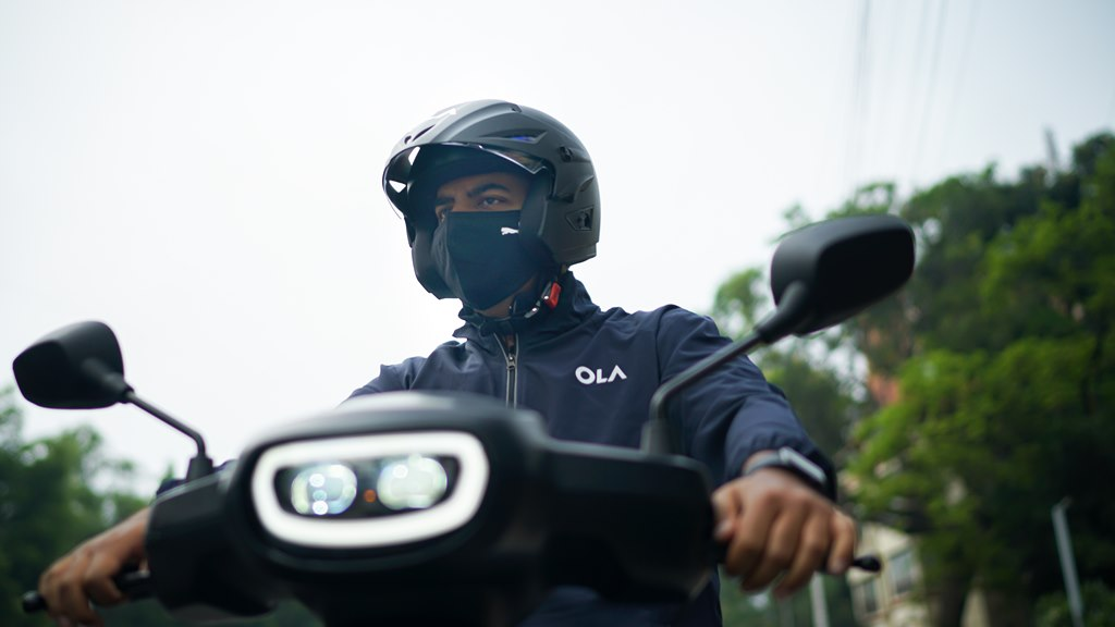 Bhavish Aggarwal takes Ola Scooter for a spin