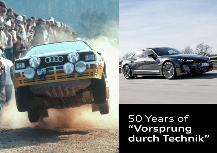 Image_A Slogan with History Audi marks 50 Years of Vorsprung durch Technik