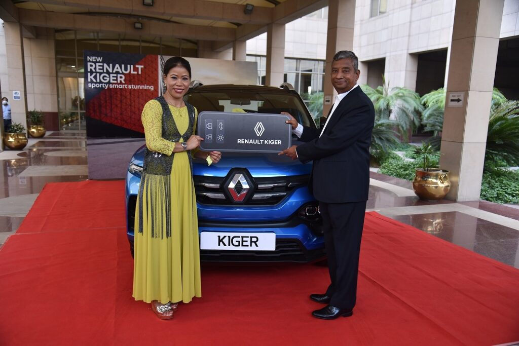 Renault Gifts Mary KOM