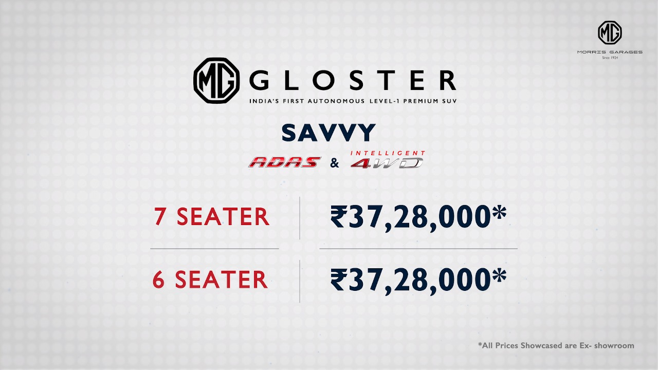 Seven-Seat Version Of MG Gloster Savvy Variant Launched! (1)