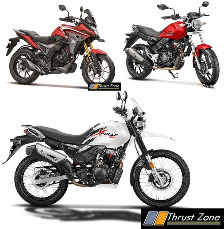 Honda CB200X vs Hero XPulse 200T vs Hero XPulse 200 - Spec Comparo