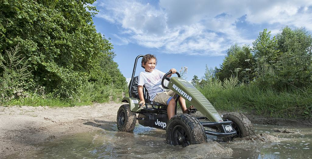 jeep pedal go kart is what every enthusiast needs in his wardrobe or