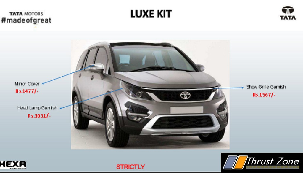 Tata Hexa Accessories Kit Details and Price Out, Lot on Offer!