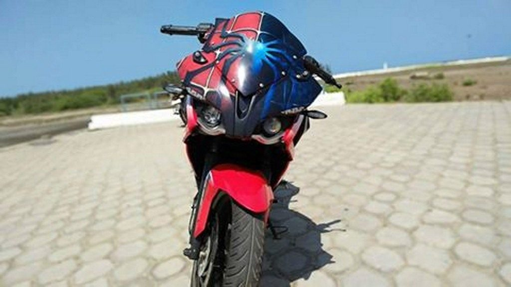 Pulsar Rs200 With Spiderman Livery Is The Coolest Thing Today